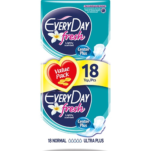 EVERYDAY ΣΕΡΒΙΕΤΕΣ fresh 18τεμ (ΕΛ) normal