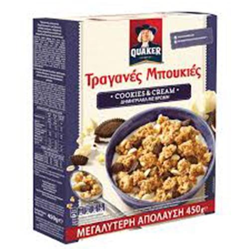 QUAKER τραγανές μπουκιές 450γρ (ΕΛ) cookies&cream