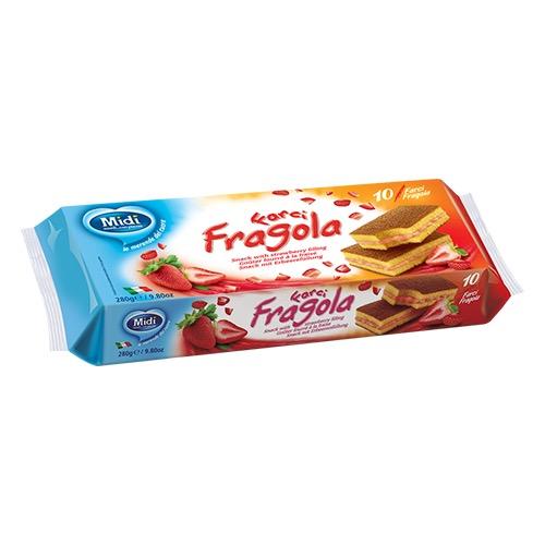 MIDI cake 280gr 10τεμ (ΕΛ) φράουλα