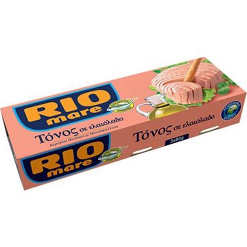 RIO MARE τόνος λαδιού 3τεμ x 80gr (ΕΛ)