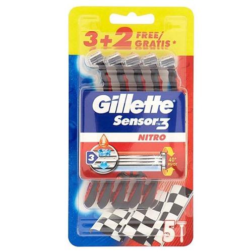GILLETTE SENSOR3 (3+2) NITRO (ΕΛ)