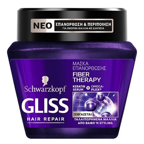 GLISS μάσκα μαλλιών 300ml (ΕΛ) fiber therapy