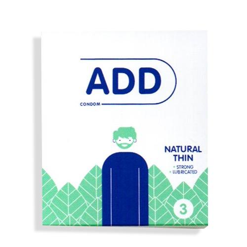 ADD προφυλακτικά 3τεμ natural thin (ΕΛ)