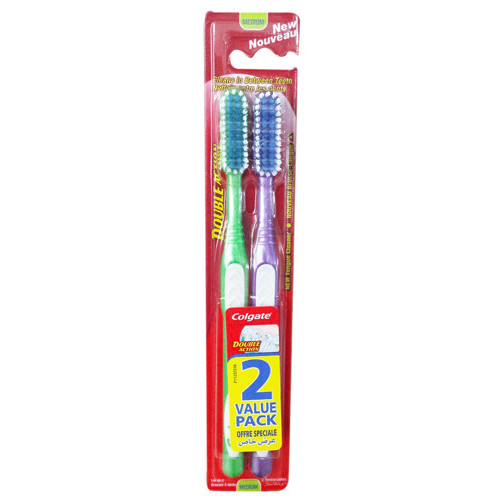 COLGATE οδοντόβουρτσα double action 2τεμ