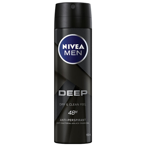 NIVEA spray 150ml men deep 48h black carbon (ΕΛ)