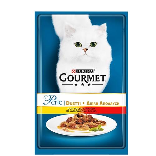 GOURMET PERLE 85gr (ΕΛ) μοσχάρι-κοτόπουλο