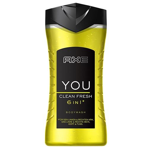AXE shower gel 250ml clean fresh 6 in1