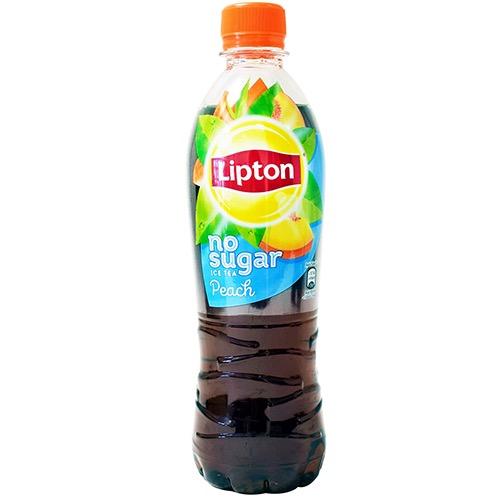 LIPTON BLACK ICE TEA 500ml NO SUGAR (ΕΛ) peach