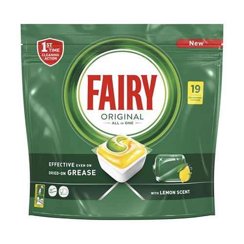 FAIRY ACTIVE CAPS 19τεμ all in 1 lemon