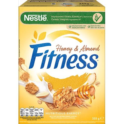 FITNESS δημητριακά 355γρ ολικής (ΕΛ) μέλι-αμύγδαλα