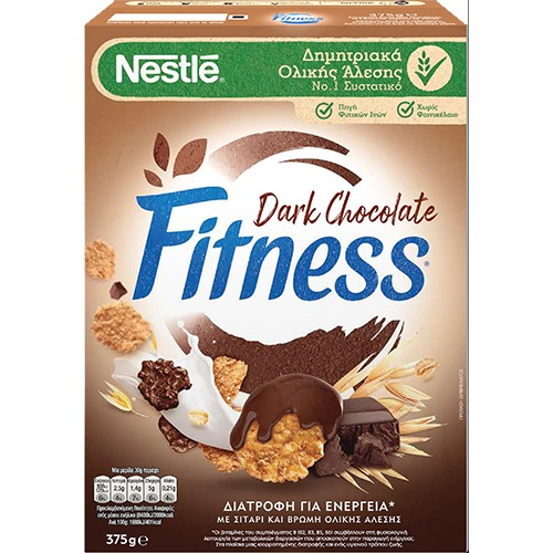 FITNESS δημητριακά 375γρ ολικής (ΕΛ) σοκολ. υγείας