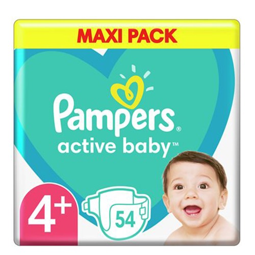 PAMPERS active baby No4+ (10-15kg) 54τεμ (ΕΛ)