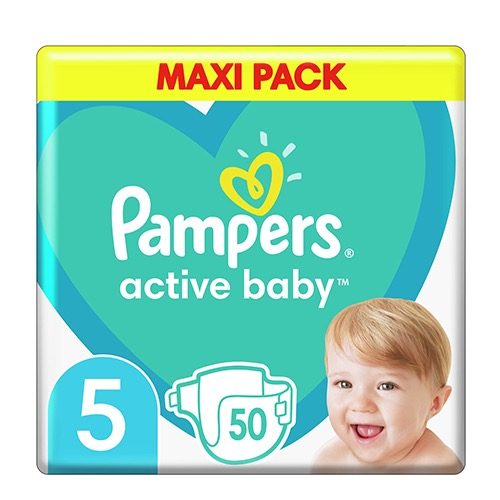 PAMPERS active baby No5 (11-16kg) 50τεμ (ΕΛ)