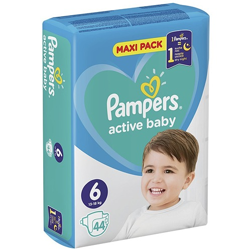 PAMPERS active baby No6 (13-18kg) 44τεμ (ΕΛ)