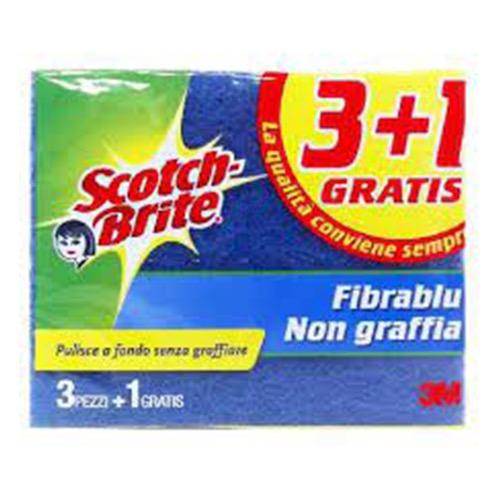 SCOTCH BRITE σφουγγ μπλε delicate 2+1 (δε χαράζει)