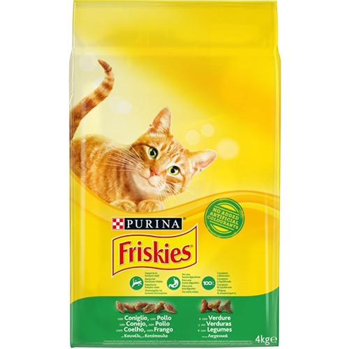 FRISKIES 4kg(ΕΛ) κουνέλι-κοτόπ-λαχαν