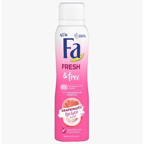 FA spray women 150ml fresh&free grapefruit lychee