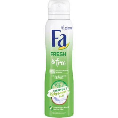 FA spray women 150ml fresh&free lime coconut 0%
