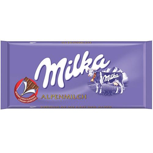 MILKA ΣΟΚΟΛΑΤΑ 100gr (ΕΛ) alpine milk