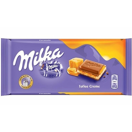 MILKA ΣΟΚΟΛΑΤΑ 100gr (ΕΛ) toffee caramel