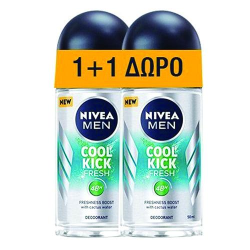 NIVEA roll on 50ml 1+1 men (ΕΛ) cool kick fresh